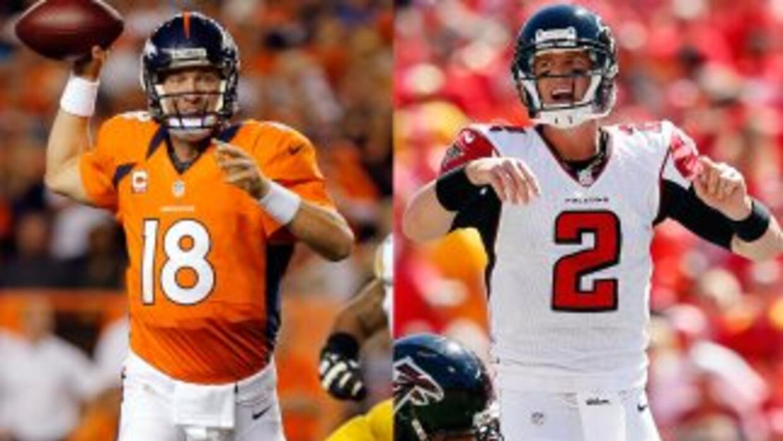Petyton Manning y Matt Ryan protagonizarán un duelo de quarterbacks que...