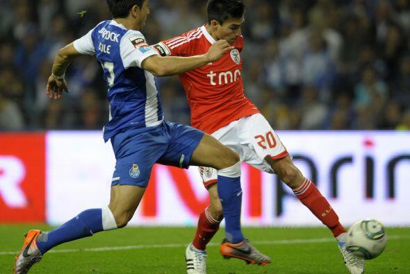 El jugador del Benfica fue importantísimo en el clásico portugués ante e...