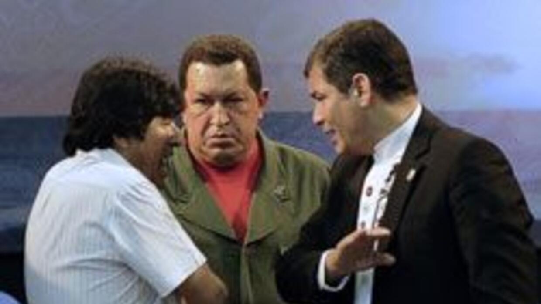 Los presidentes de Bolivia, Venezuela y Ecuador se reunieron en la Cumbr...
