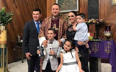Hijo de Joel Lizárraga celebró su primera comunión en Mazatlán, Sinaloa.