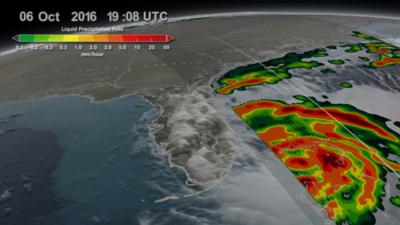 Representación de la tasa de precipitación causada por el...