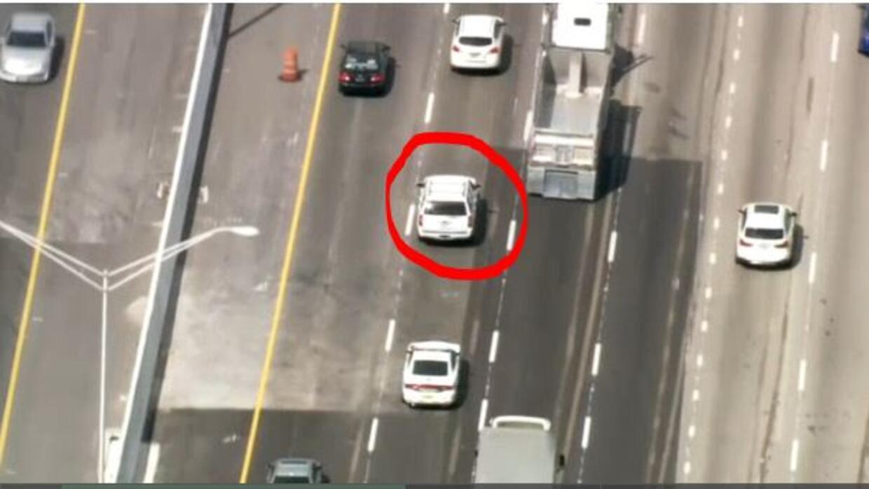 Policía realiza persecución por auto robado en Homestead
