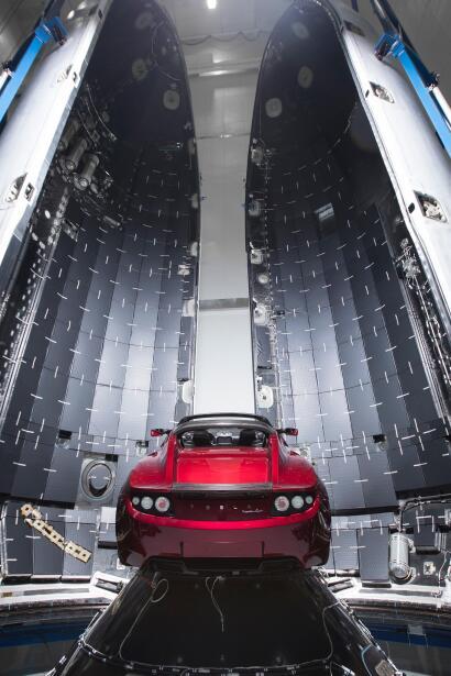 Tesla Roadster al espacio