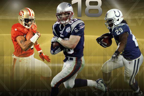 3. Receptores del Super Bowl: Con 18 recepciones en dos apariciones en e...