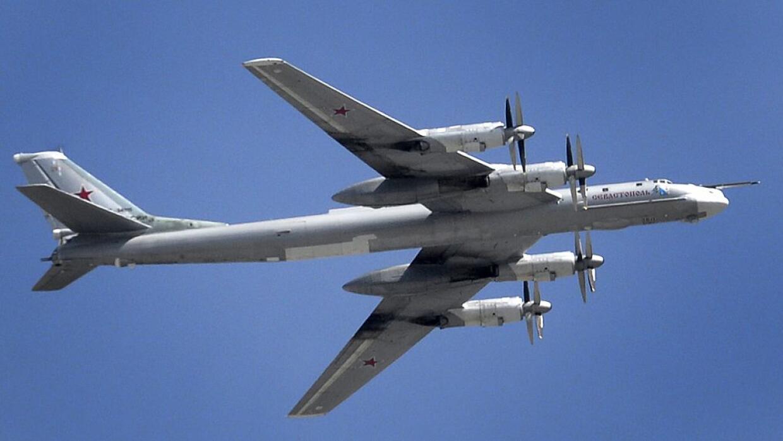 Los bombarderos rusos Tupolev Tu-95 pueden llevar bombas atómicas.
