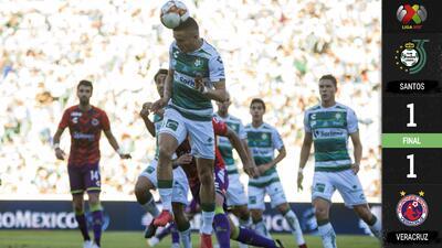 En un partidazo, Veracruz fue mejor que Santos pero sólo se llevó un empate