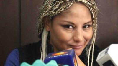 Mariana Juárez lista y recargada.