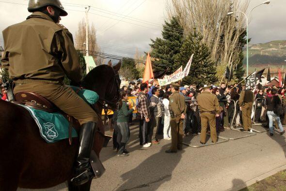 Todos los manifestantes  fueron reprimidos por la policía de Carabineros.