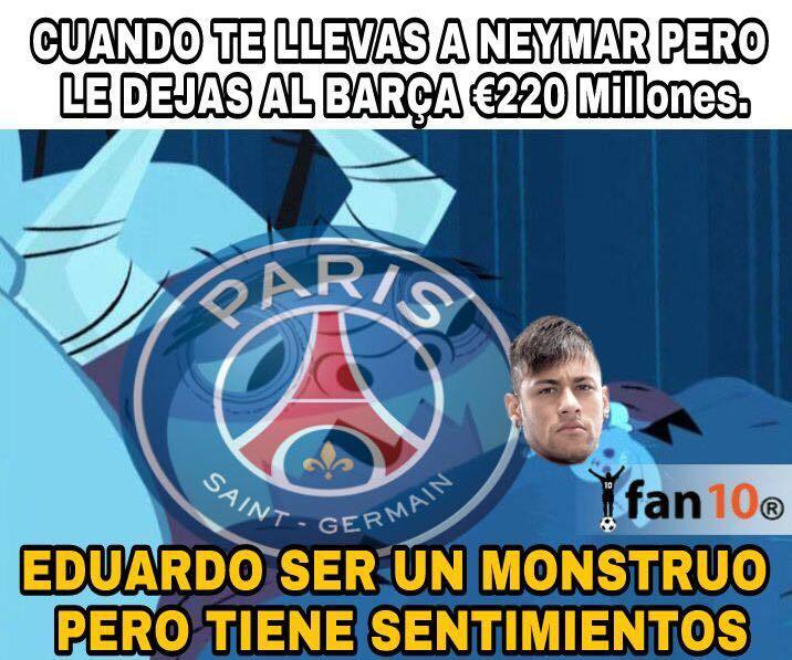 En memes: Neymar se inclina por los millones del PSG 20476538_1522978004...