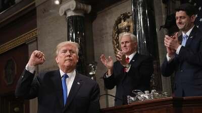 En imágenes: El resumen del primer discurso del Estado de la Unión de Donald Trump