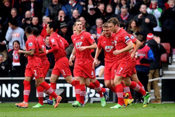 Southampton celebraba....