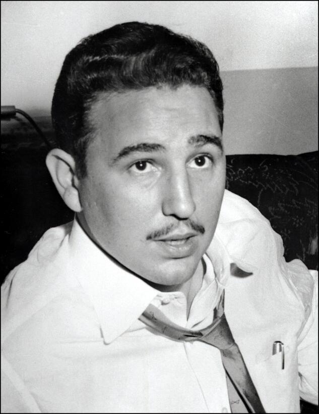 Retrato de Fidel Castro en Nueva York, 1955.