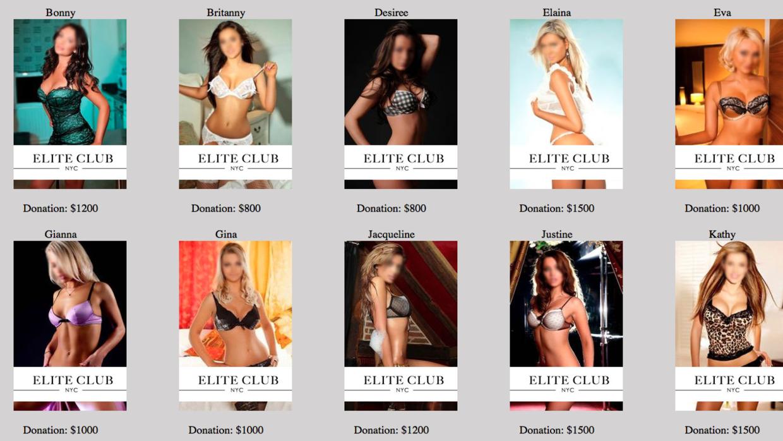 Estas son algunas de las modelos que se alega trabajaban para Rizzi.