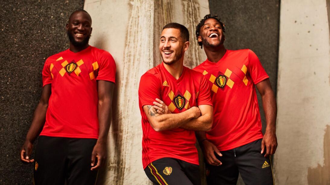 Adidas presentó los nuevos uniformes para el Mundial de Rusia 2018 belgi...