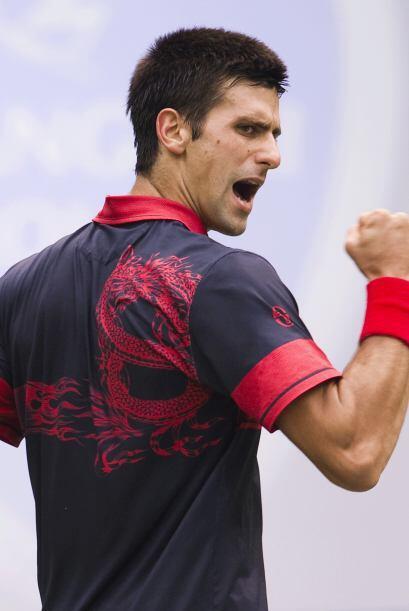 Número 3: El encantador serbio Novak Djokovic con su 1.88 metros...