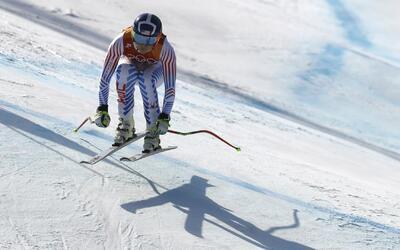 Lindsey Vonn no pudo terminar su última prueba olímpica.
