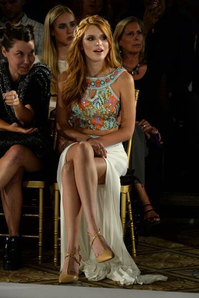 Bella Thorne fue una de las famosas que asistió a todos los desfiles que...