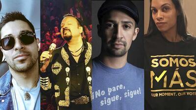 Las celebridades latinas que quieren hacer una diferencia durante las elecciones de EEUU