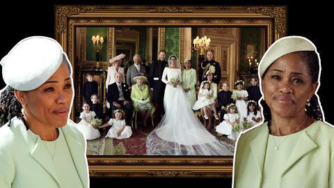 Doria Ragland en la foto oficial de la boda real