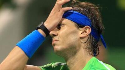 Rafael Nadal no pudo con Monfils en Doha.
