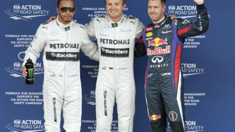 Nico Rosberg consiguió su seguna Pole consecutiva, tercera de su carrera.