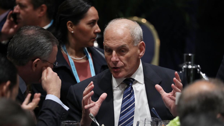 El secretario de Seguridad Nacional, John Kelly, en Miami durante la con...
