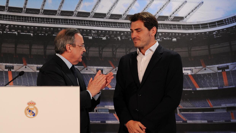 Florentino Pérez aseguró que el guardameta decidió marcharse del equipo.