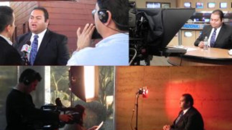 Daniel Hernández, durante sus entrevistas.