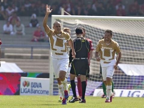 El gol que marcó el domingo ante los Xolos de Tijuana en el triun...