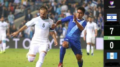 ¡Festín de goles! Israel humilló a una inofensiva Guatemala
