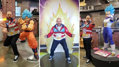 El Pelón se convirtió en 'Súper Saiyajin' durante la convención de 'Dragonball'