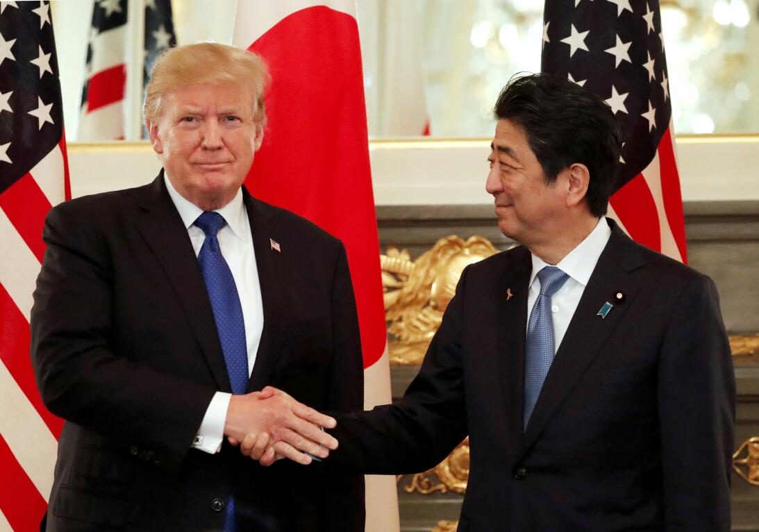 Donald Trump y Shinzu Abe