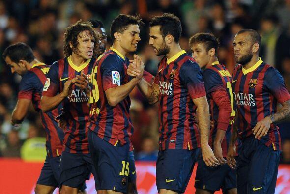 Betis logró el gol de la honra por medio de un penalti, pero el Barcelon...