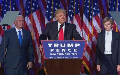 Trump agradeció a su familia al aceptar la victoria en las elecciones pr...