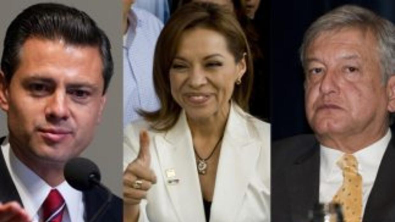 Enrique Peña Nieto, Josefina Vázquez Mota y Andrés Manuel López Obrador,...