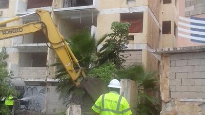 Demolición de edificios en Condado