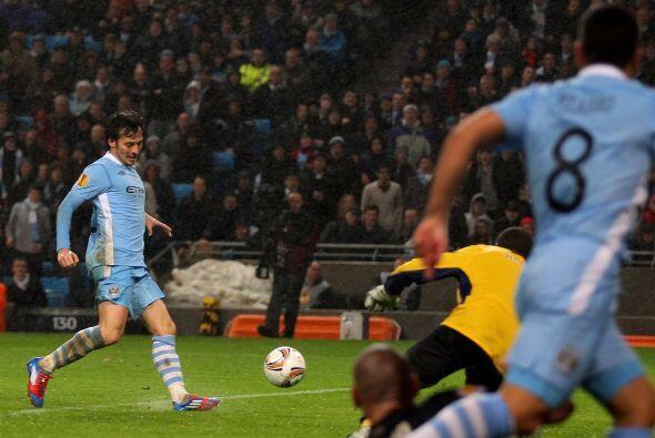 El españo David 'Chino' Silva puso el 3 a 0.