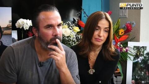 Manuel y Patricia, padres de Joaquín Oliver, estudiante venezolan...