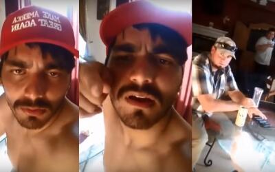 Imágenes tomadas del video que recibió un activista proinm...