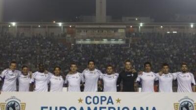 Jugadores del club Fiorentina durante la Copa Euroamericana 2014.