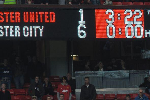 El marcador que constataba lo que se dio durante el partido, Manchester...