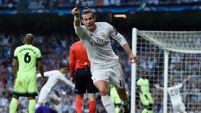 Gareth Bale abrió el marcador contra el Manchester City.