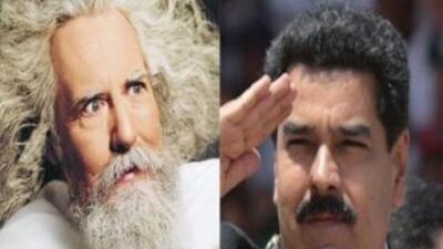 """Dios"" en Twitter y Nicolás Maduro. (Fotos: Twitter)"