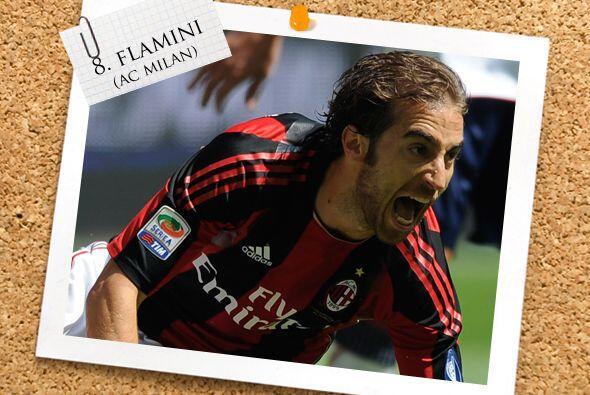 Pasando a la Liga italiana, el francés Mathieu Flamini destacó con el lí...