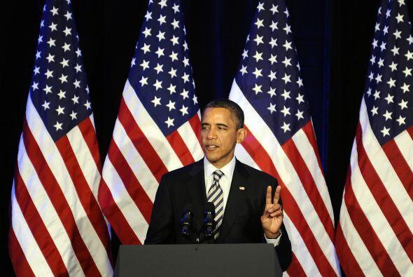 Obama estuvo menos de tres horas en la actividad y se fue rumbo a Denver...