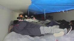 Rescatan a 60 inmigrantes indocumentados encerrados en un camión frigorí...
