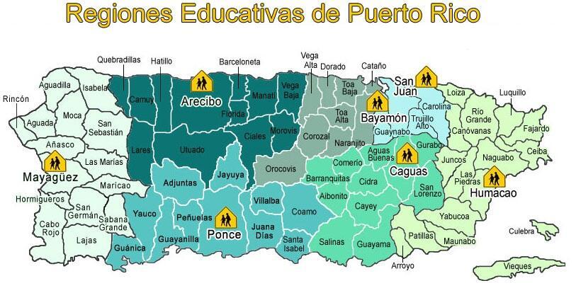 Las regiones educativas de Puerto Rico