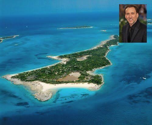 Leak Cay, Bahamas pertenece al heroe de las peliculas de accion Nicolas...