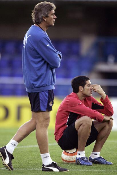 Riquelme Vs. Pellegrini. Juan Román Riquelme y Manuel Pellegrini eran co...