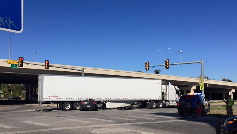 Accidente en I-35 SA